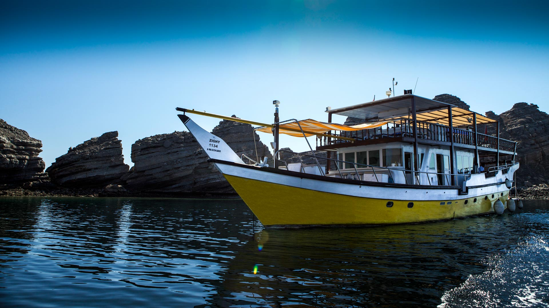 luxury, purpose-built Dhows